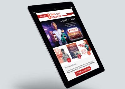 Diseño Emailing Revista Más Que Seguros