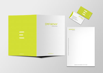 Papelería comercial, carpeta documentación y tarjetas de visita
