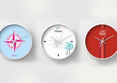 Diseño de reloj corporativo