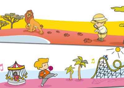 Ilustraciones para acciones digitales