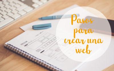 Pasos para crear una web